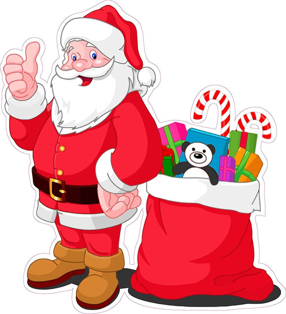 Santa Claus Version 2 Window and Wall Decor Decal - 12
