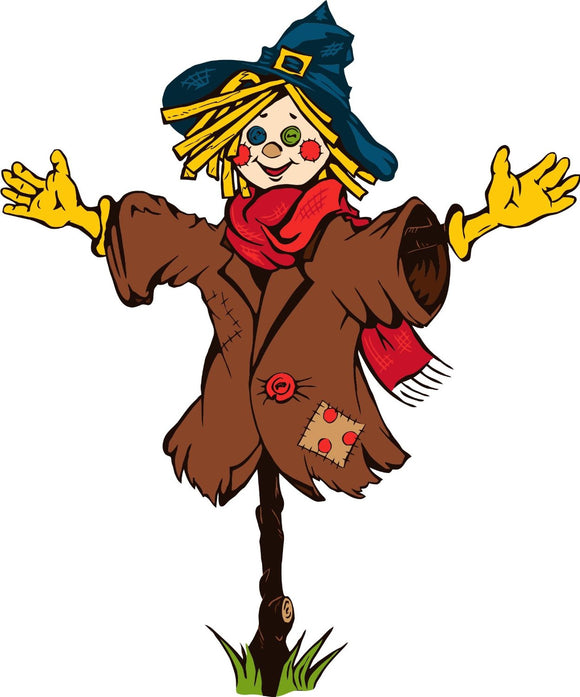Halloween Scarecrow Version 1 Wall Decor Decal - 24