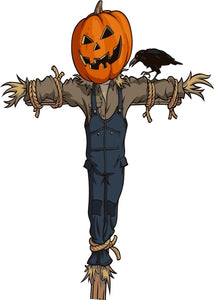 "Halloween Scarecrow Version 3 Wall Decor Decal - 24"" x 17"" 