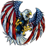 Screaming American Flag Bald Eagle Wings