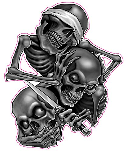 See No Evil Hear No Evil Speak No Evil Decal - 5