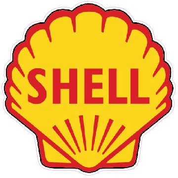 Shell Gasoline Decal - | Nostalgia Decals Online retro car decals, old school vinyl stickers for cars, racing graphics for cars, car decals for girls