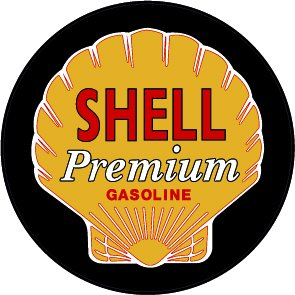 Shell Gasoline Decal Version 2 - | Nostalgia Decals Online retro car decals, old school vinyl stickers for cars, racing graphics for cars, car decals for girls