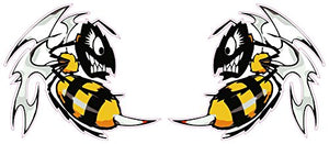 "Ski-Doo Killer Bees Decal Pair - 3"" x 2.8"" each 