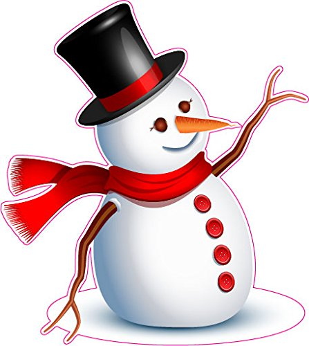Snowman Version 3 Window or Wall Decor Decal - 12