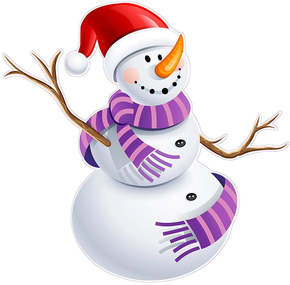 Snowman Version 4 Window and Wall Decor Decal - 12