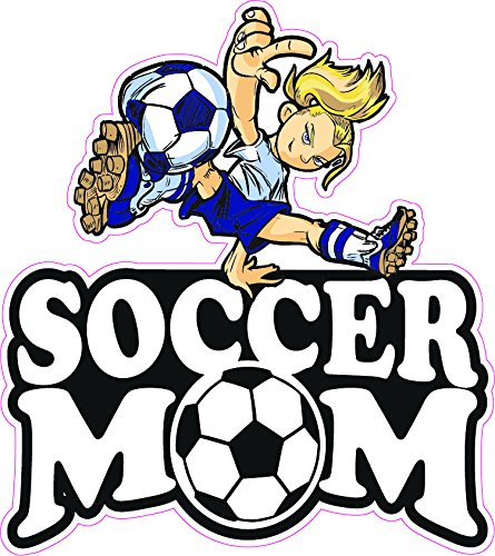 Soccer Mom Blonde Girl Decal - | Nostalgia Decals Online retro car decals, old school vinyl stickers for cars, racing graphics for cars, car decals for girls