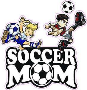 Soccer Mom Boy and Girl Decal - | Nostalgia Decals Online retro car decals, old school vinyl stickers for cars, racing graphics for cars, car decals for girls