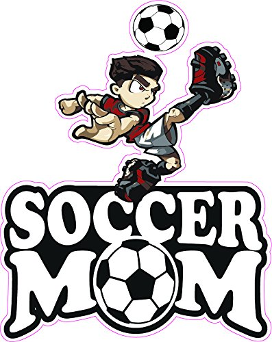 Soccer Mom Dark Hair Boy Decal - | Nostalgia Decals Online retro car decals, old school vinyl stickers for cars, racing graphics for cars, car decals for girls