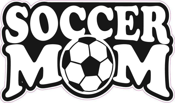 Soccer Mom Decal - | Nostalgia Decals Online retro car decals, old school vinyl stickers for cars, racing graphics for cars, car decals for girls