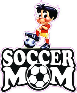 Soccer Mom Little Boy Decal - | Nostalgia Decals Online retro car decals, old school vinyl stickers for cars, racing graphics for cars, car decals for girls