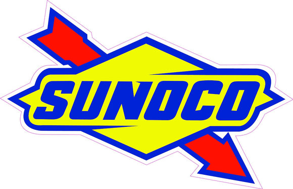 Sunoco Decal - | Nostalgia Decals Online retro car decals, old school vinyl stickers for cars, racing graphics for cars, car decals for girls