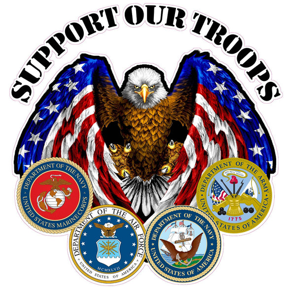 Support Our Troops Decal - 36