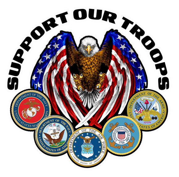 Support Our Troops Version 2 Decal - 5