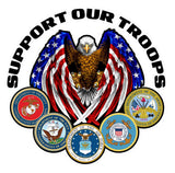 "Support Our Troops Version 2 Decal - 5"" x 5"" 