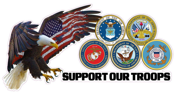 Support Our Troops Version 3 Decal - 7
