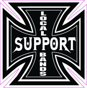 "Support Your Local Bands Decal - 5"" x 5"" 