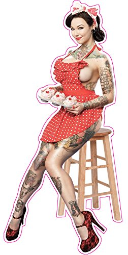 Tattooed Pin Up Girl 3 Decal