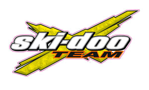 "Team Ski-Doo Decal - 6"" x 3.25"" 
