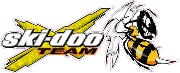Team Ski-Doo Killer Bee Decal - | Nostalgia Decals Online vinyl graphics for snowmobiles, vinyl snowmobile stickers, die cut vinyl jetski graphics