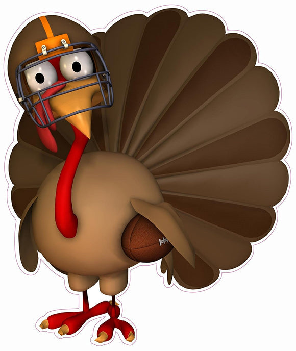 Thanksgiving and Football Wall or Window Decor Decal - 12