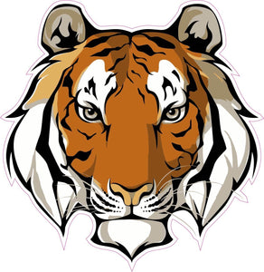 Tiger Head Decal - | Nostalgia Decals Online retro car decals, old school vinyl stickers for cars, racing graphics for cars, car decals for girls