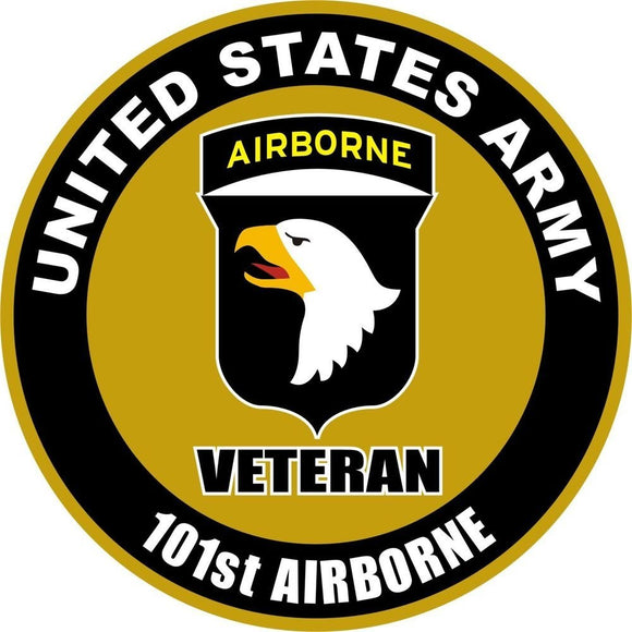 U.S. Army 101st Airborne Veteran Decal - | Nostalgia Decals Online military window stickers for cars and trucks, army vinyl decals for cars, marine corps vinyl stickers, die cut vinyl navy decals