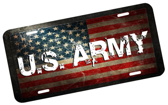 U.S. Army License Plate - | Nostalgia Decals Online military window stickers for cars and trucks, army vinyl decals for cars, marine corps vinyl stickers, die cut vinyl navy decals