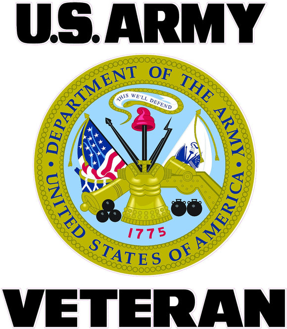 U.S. Army Veteran Shield Decal - | Nostalgia Decals Online military window stickers for cars and trucks, army vinyl decals for cars, marine corps vinyl stickers, die cut vinyl navy decals