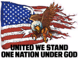 United We Stand One Nation Under God Decal