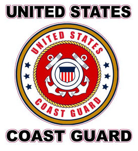 "United States Coast Guard Decal 6"" - 