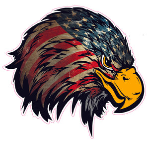 Weathered American Flag Eagle Head Version 2 Decal Nostalgia