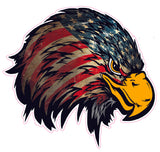 Weathered American Flag Eagle Head Version 2 Decal- | Nostalgia Decals Online decal stickers for your car, patriotic vinyl graphics, american flag window stickers, eagle decals