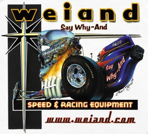 Weiand Blowers Decal - | Nostalgia Decals Online retro car decals, old school vinyl stickers for cars, racing graphics for cars, car decals for girls