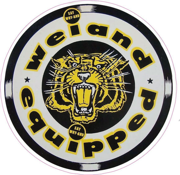 Weiand Equipped Decal - | Nostalgia Decals Online retro car decals, old school vinyl stickers for cars, racing graphics for cars, car decals for girls