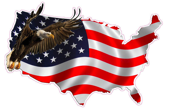 American Eagle United States Version 2 Decal- 24
