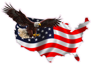 American Eagle United States Decal- 24"