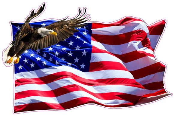American Flag Soaring Eagle Version 2 Decal- 6