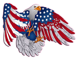 Patriot American flag Eagle Decal
