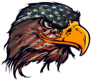 American Flag Eagle head Version 3 decal
