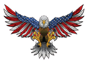 American Flag Attack Bald Eagle Wings Decal