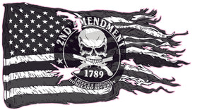American ripped flag 2nd Amendment Right to Bare Arms Decal