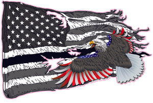 American worn Flag colored Patriot bald Eagle Decal