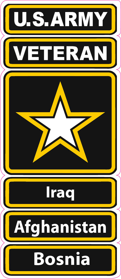 U.S. Army Veteran Iraq Afghanistan Bosnia Decal - 5