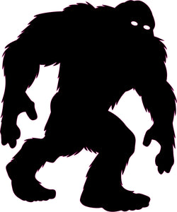 "Yeti Bigfoot 48"" Satin Black Decal"