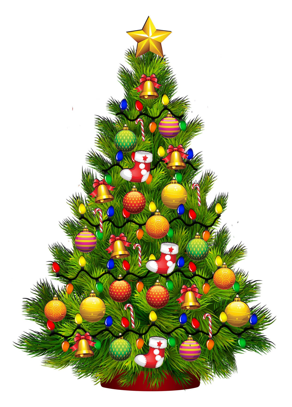 build a christmas tree with lights wall decor decal nostalgia decals wall decoration stickers