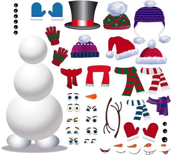 Build a Snowman Wall Decor Decal