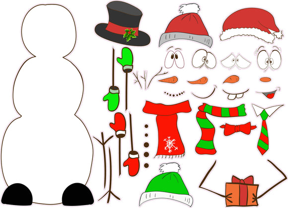 Build a Snowman v2 Wall Decor Decal