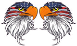 Eagle head American flag v4 Decal pairs