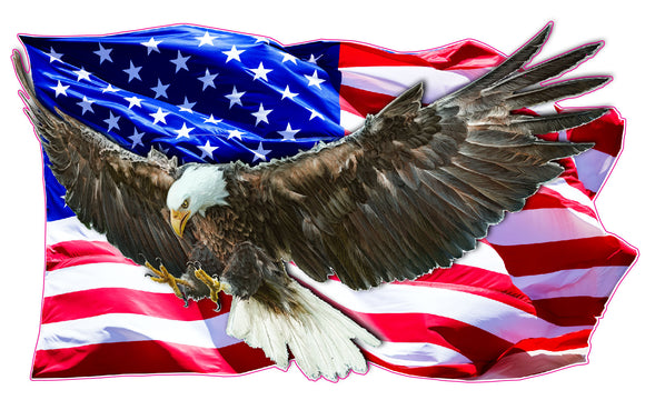 Eagle Clean American Flag Decal